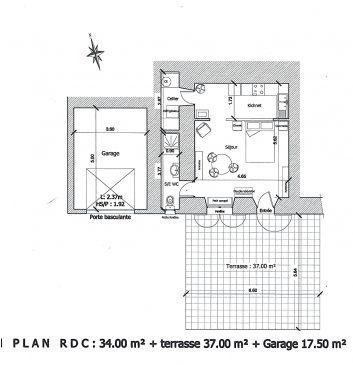 Le plan du studio de l'ADRET
