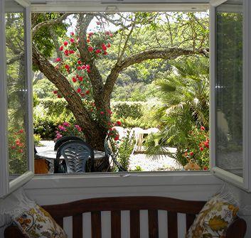 Studio de l'ADRET : Vue sur le jardin