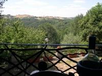 Panorama vers la vallée «del Sorbo», à l'arrière la propriété