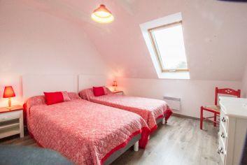 La chambre avec 2 lits de 90X200