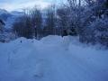 L'accès au chalet en hiver