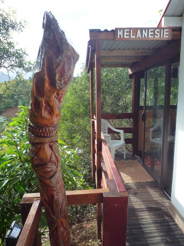 Entrée du chalet Mélanésie
