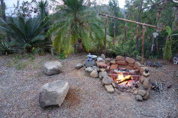 coin et espace feu de camp