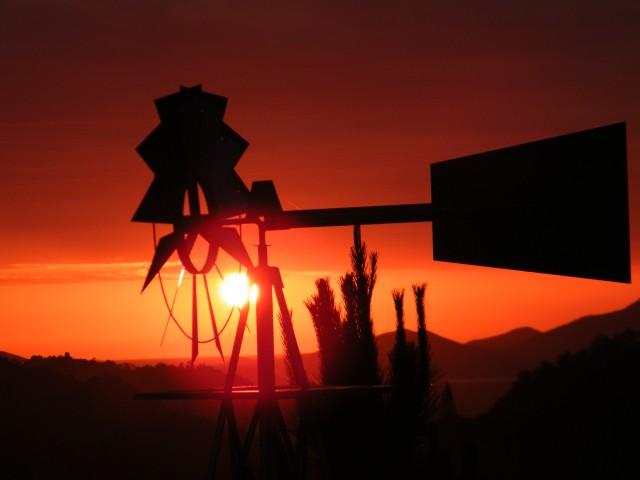 le coucher de soliel au gîte du Tour du monde