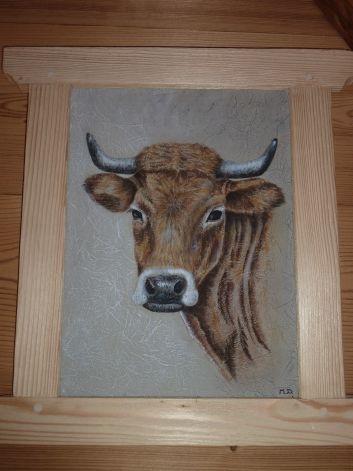 peinture  sur bois réalisée par Marie propriétaire