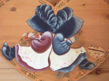 peinture sur bois  réalisée par Marie