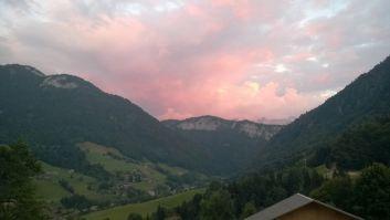 coucher du soleil vu du balcon