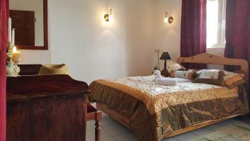 chambre à coucher principale muni d'un lit double king size avec