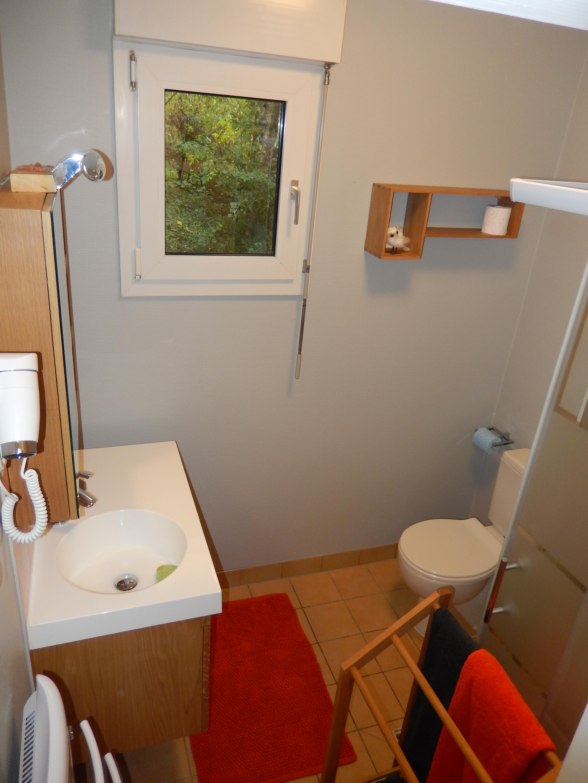 le cabinet de toilette avec le WC