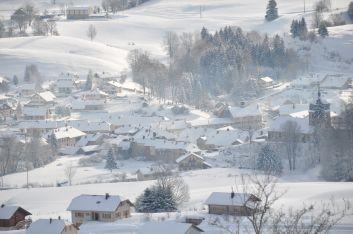 le village vue du chalet