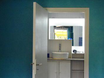 la salle d'eau de la chambre Caraïbes