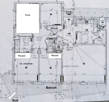 Plan de l'appartement..