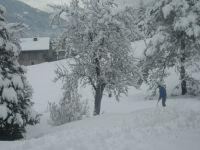 accès à la piste de Labérieu  et aux pistes du Grand Massif