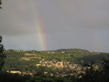 Vue magnifique sur la vallée