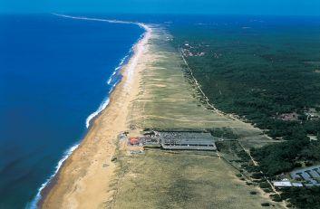 La plage d'Ondres à perte de vue pour qui aime les grands espace