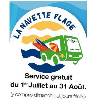Navettes-bus gratuites toutes les 15 mn dont l'arrêt est à 100 m