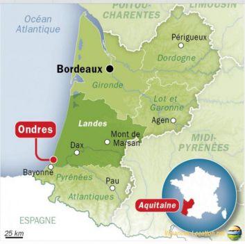 Ondres, entre les Landes et le Pays Basques, l'Espagne à 45 Km