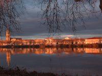 coucher de soleil sur l'autre rive