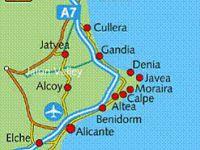 Situation à 10 min de MORAIRA,  petite ville à dimension humaine