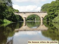 Le pont de notre rivière, à Saint Moré.