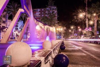 centre de Torrevieja la nuit