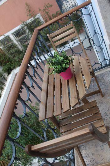 Balcon sur jardin privatif