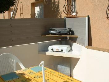 Poste cuisson sur terrasse + barbecue
