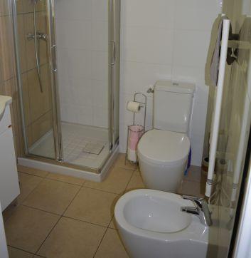Salle d'eau: douche, lavabo;WC, bidet
