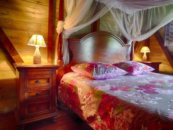 Une chambre du bungalow Litchi