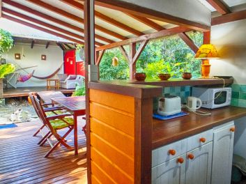 La cuisine du bungalow Liane de jade