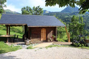 le sauna vue extérieur